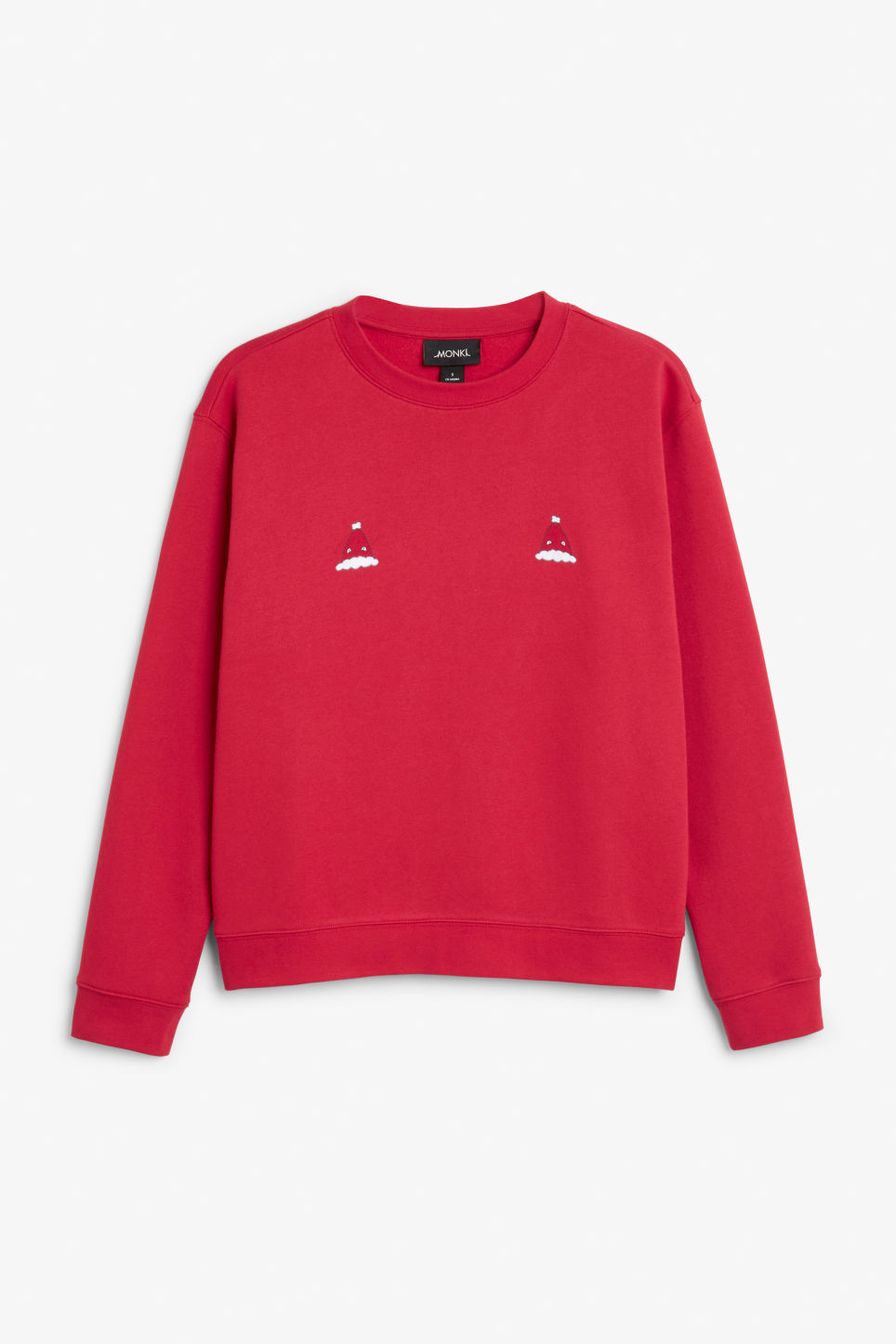 Front image of Monki soft sweat  in red