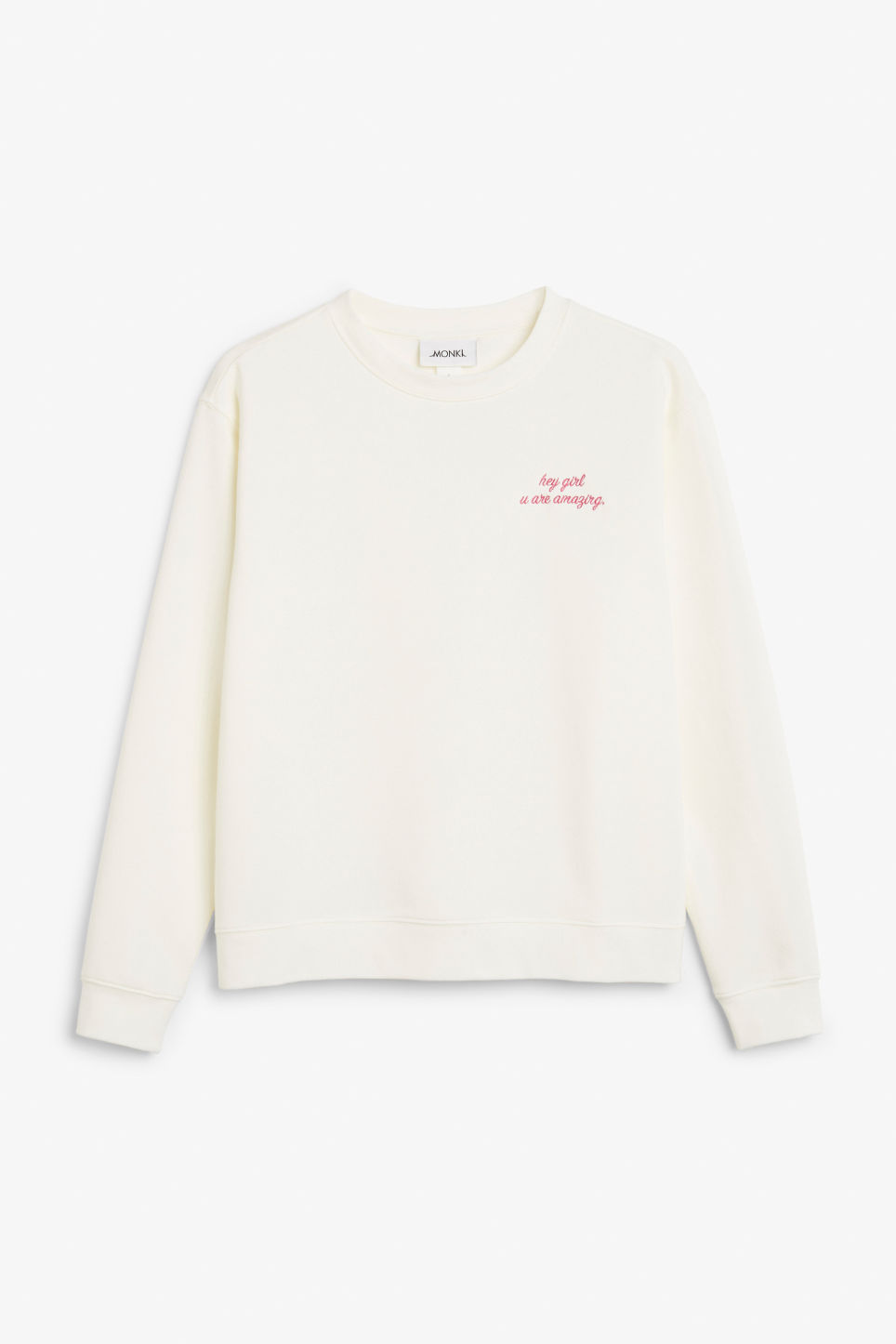 Front image of Monki soft sweat  in white