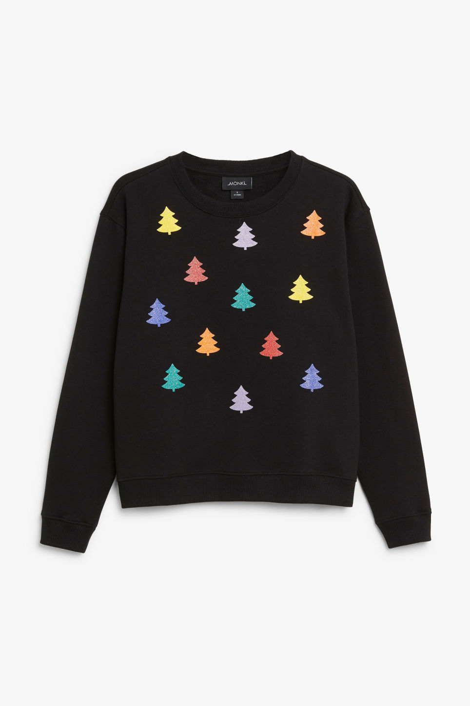 Front image of Monki soft sweat  in black
