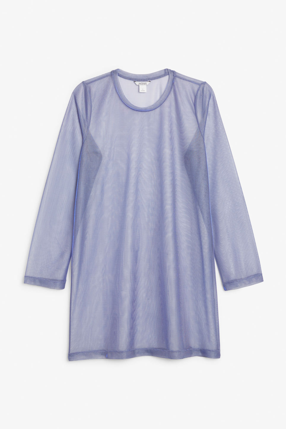 Front image of Monki long-sleeved t-shirt dress in purple