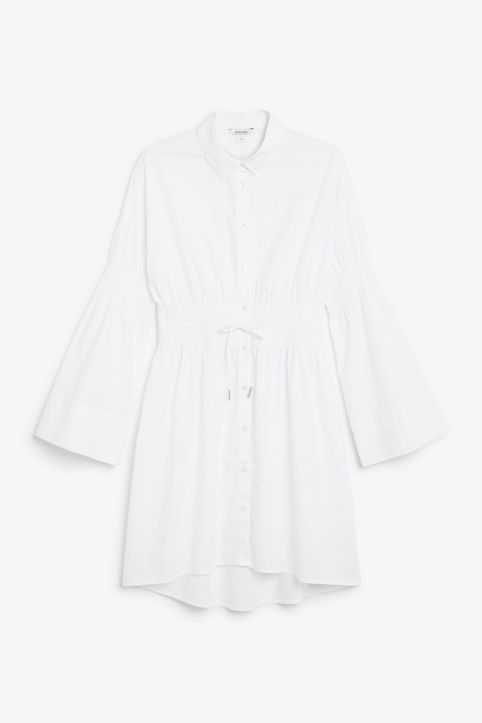 Smocked shirt dress