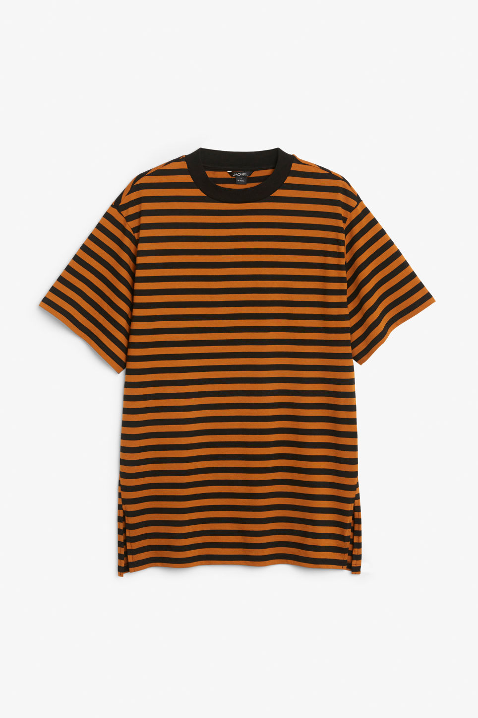 Front image of Monki oversized cotton tee in orange