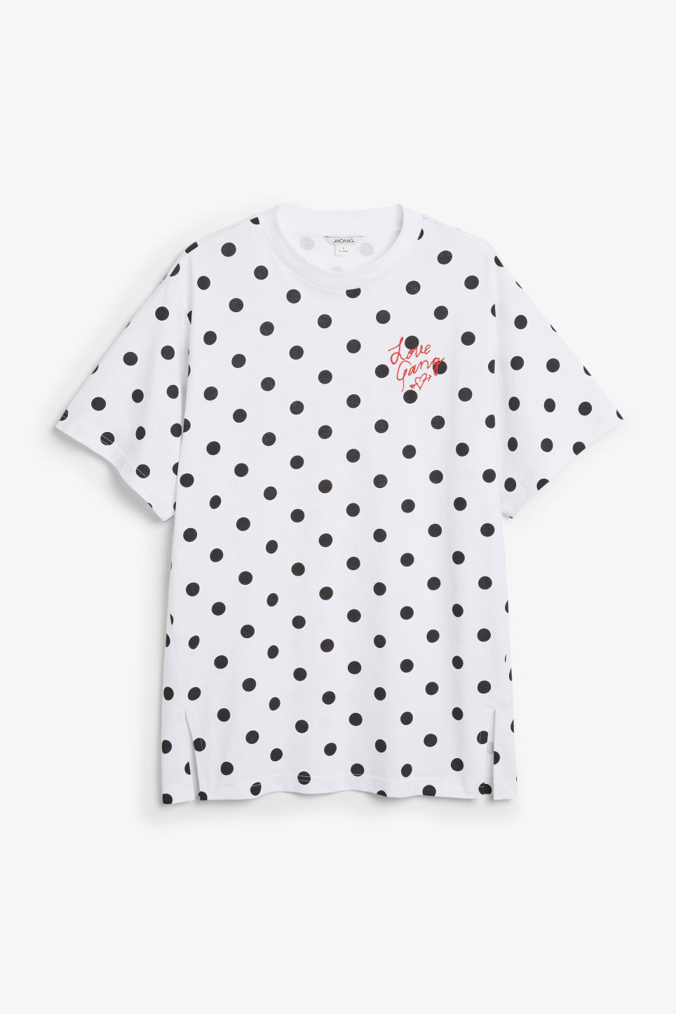 Front image of Monki oversized cotton tee in white