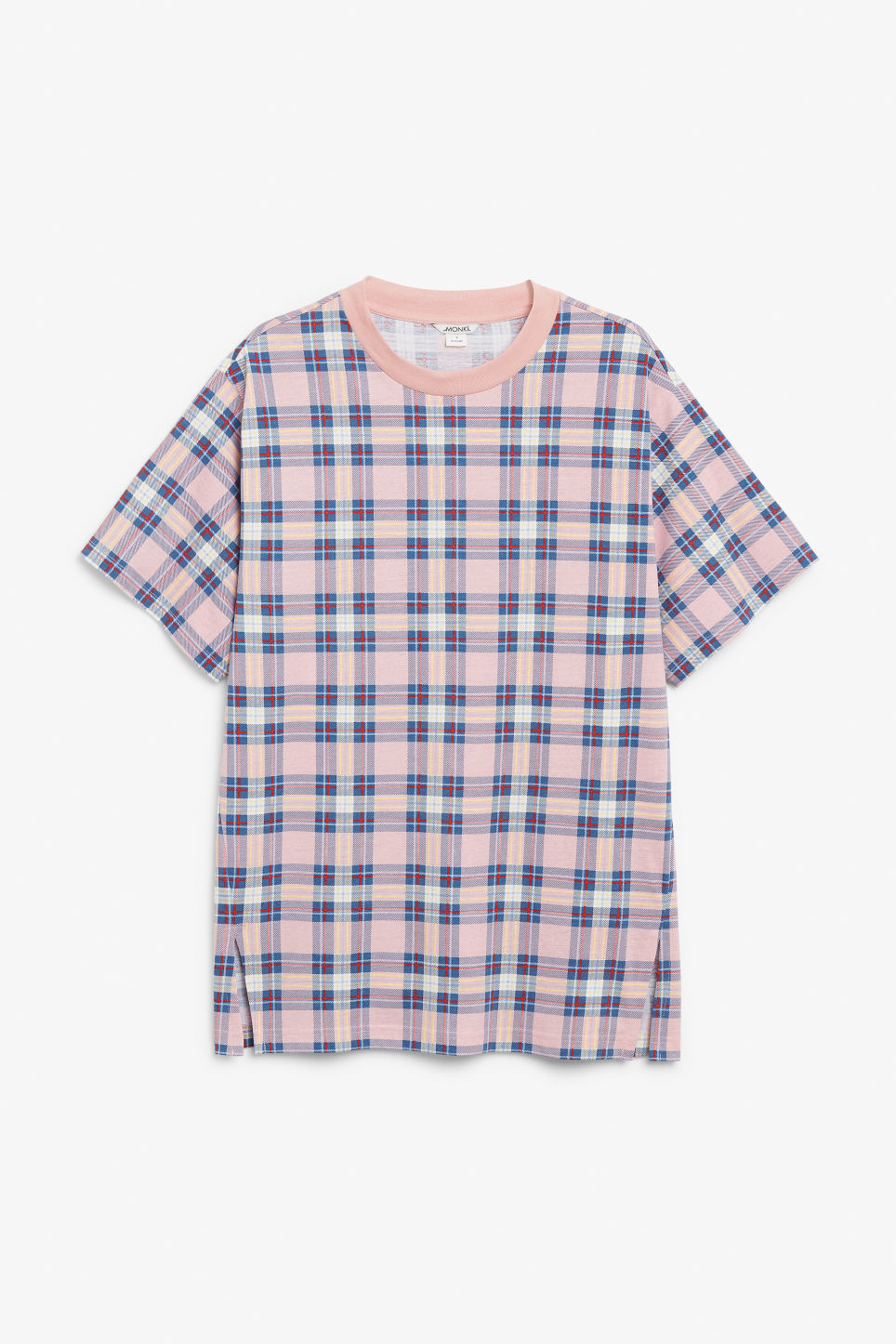 Front image of Monki oversized cotton tee in pink