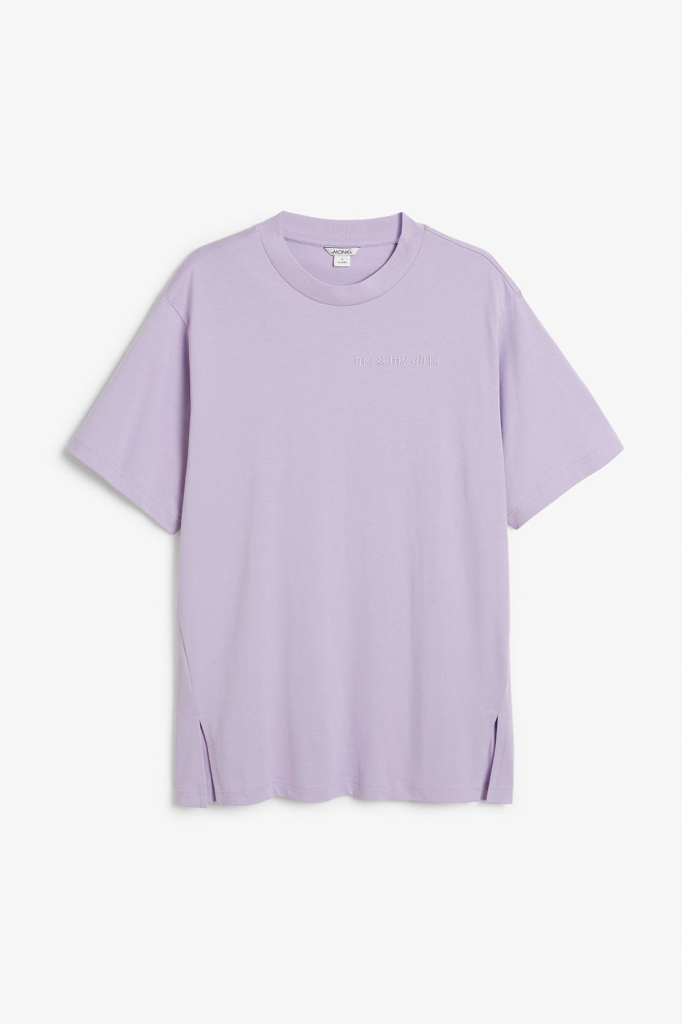 Front image of Monki oversized cotton tee in purple