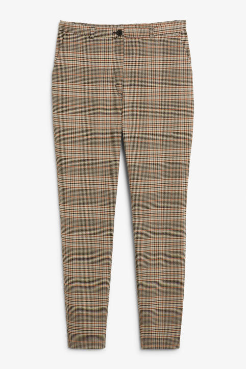 Front image of Monki dressy tapered trousers in orange