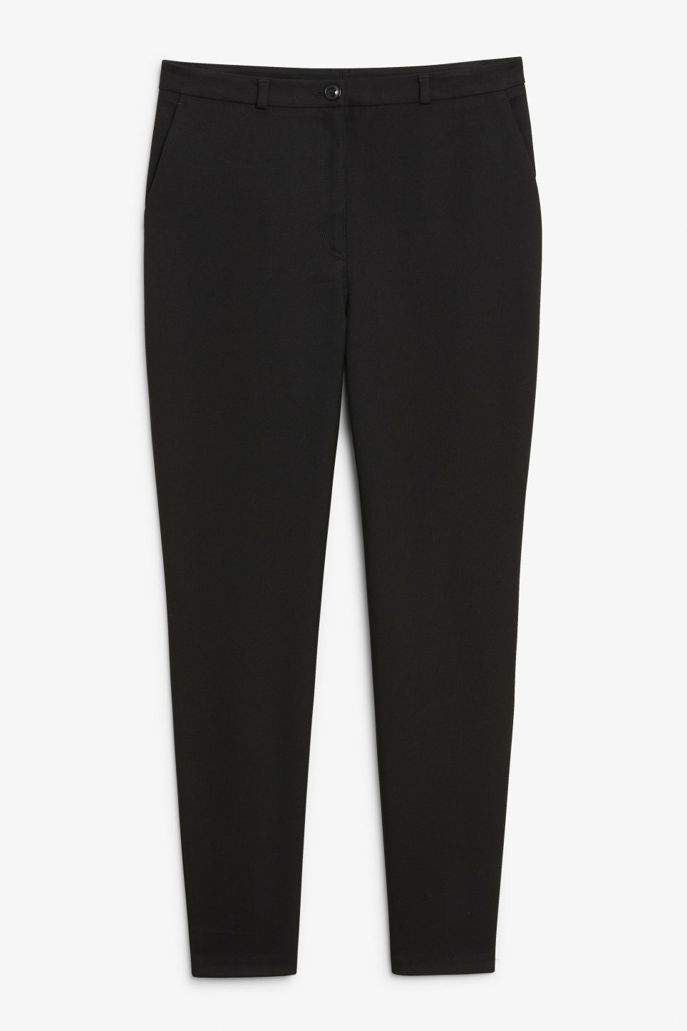 Front image of Monki dressy tapered trousers in black