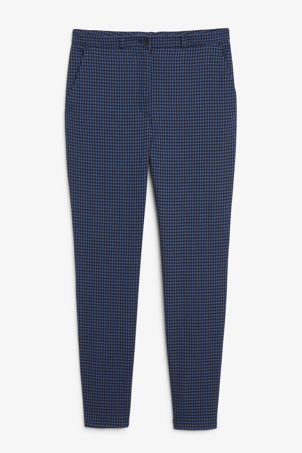 Front image of Monki dressy tapered trousers in blue