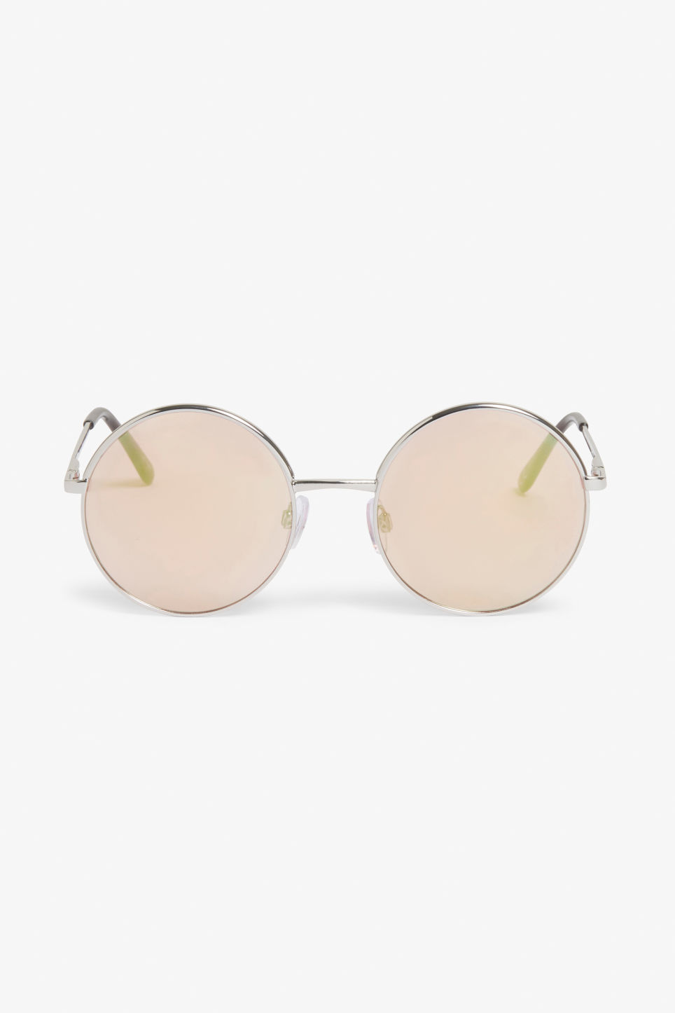 Front image of Monki round lense sunglasses in silver