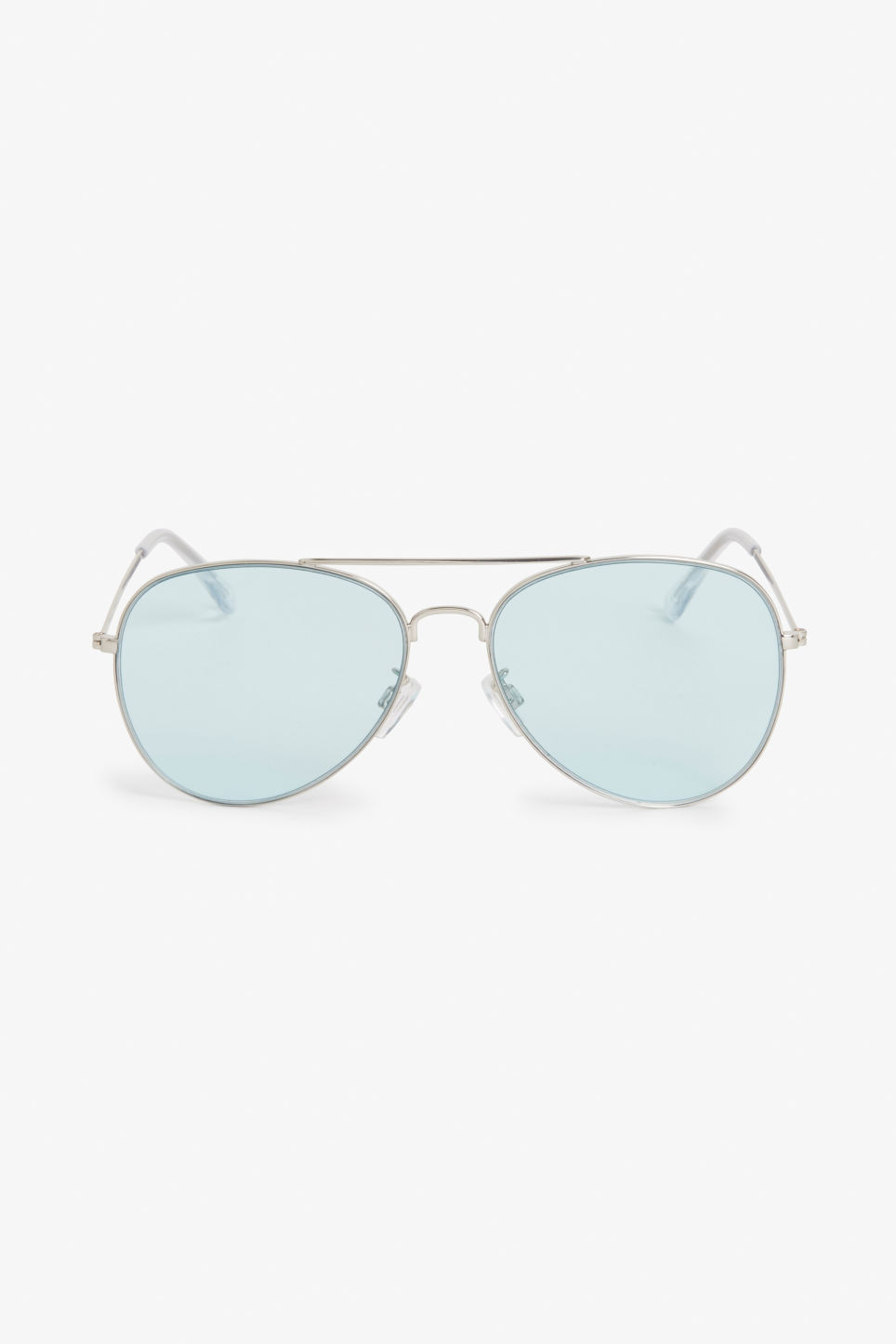 Front image of Monki pilot sunglasses in turquoise