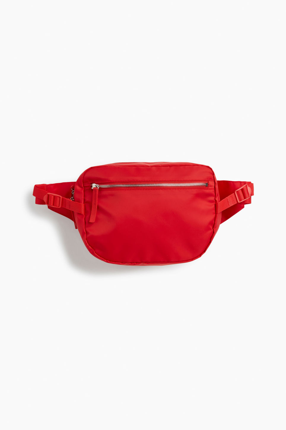 Front image of Monki fanny pack in red