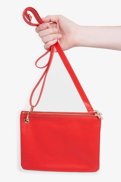 Front image of Monki shoulder bag in red