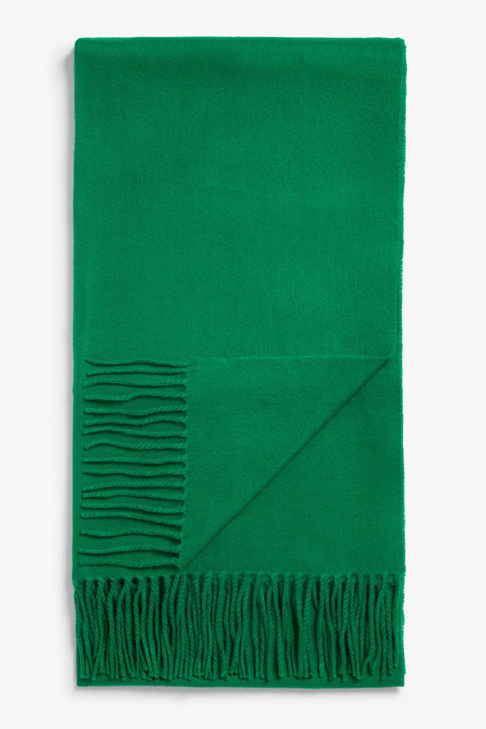 Front image of Monki cosy scarf in green