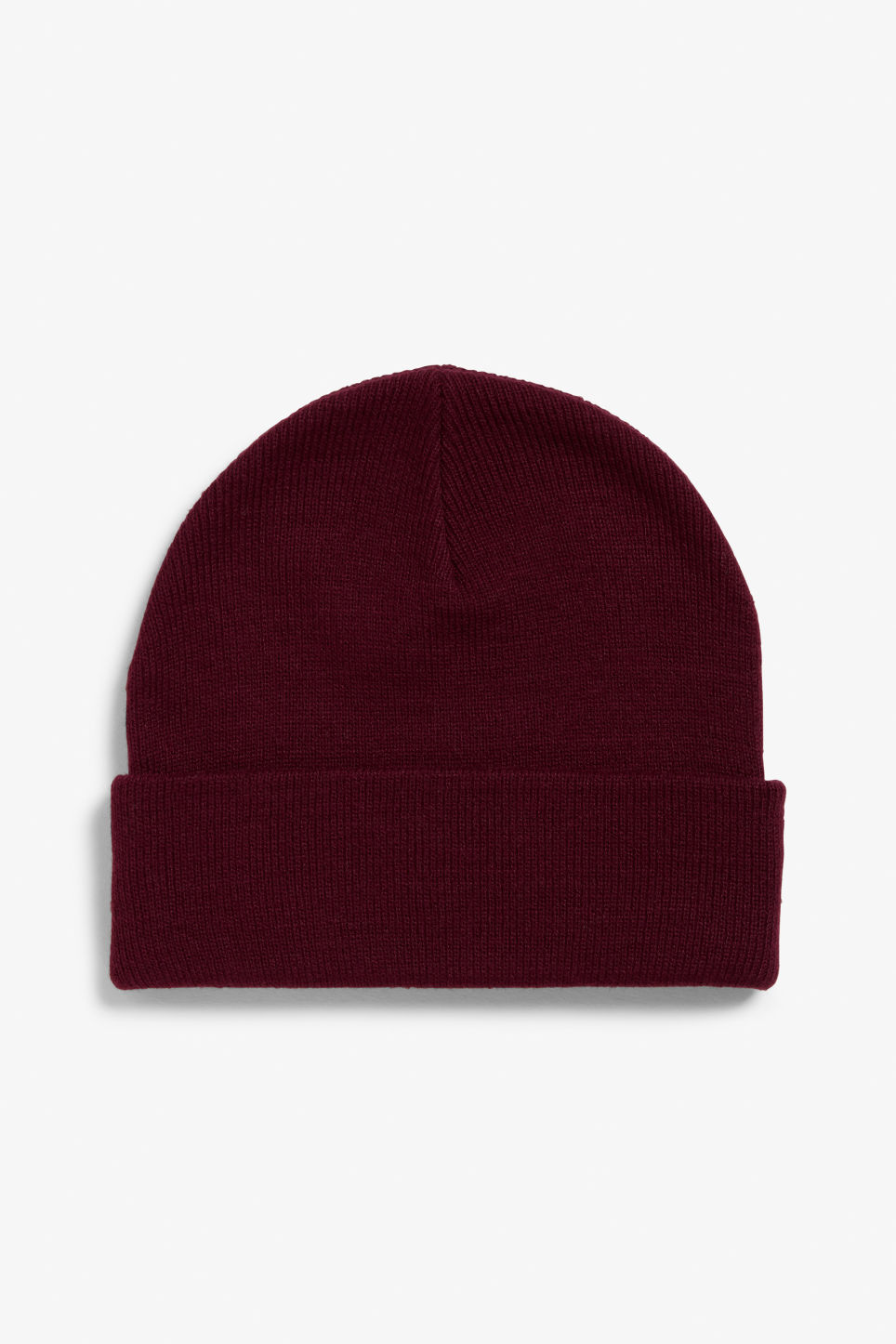 Front image of Monki classic beanie in red