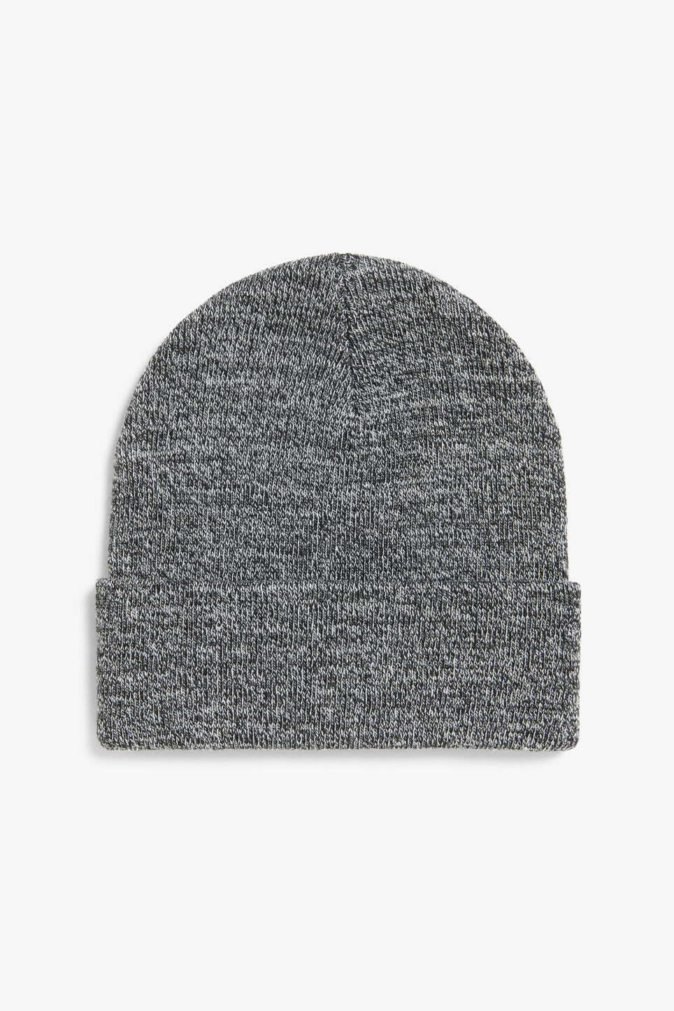 Front image of Monki classic beanie in grey