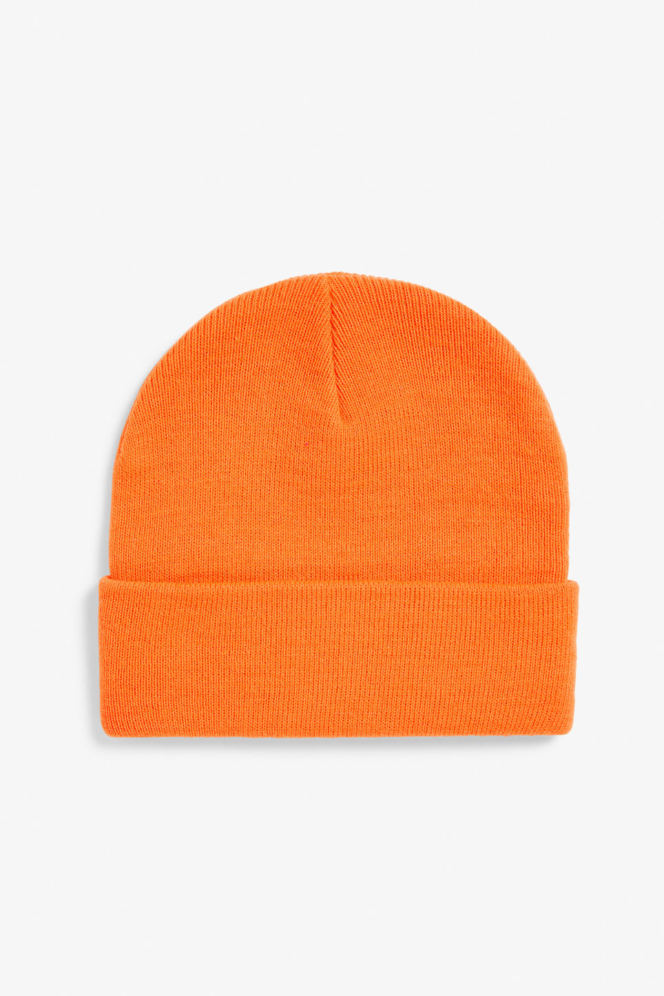 Front image of Monki classic beanie in orange
