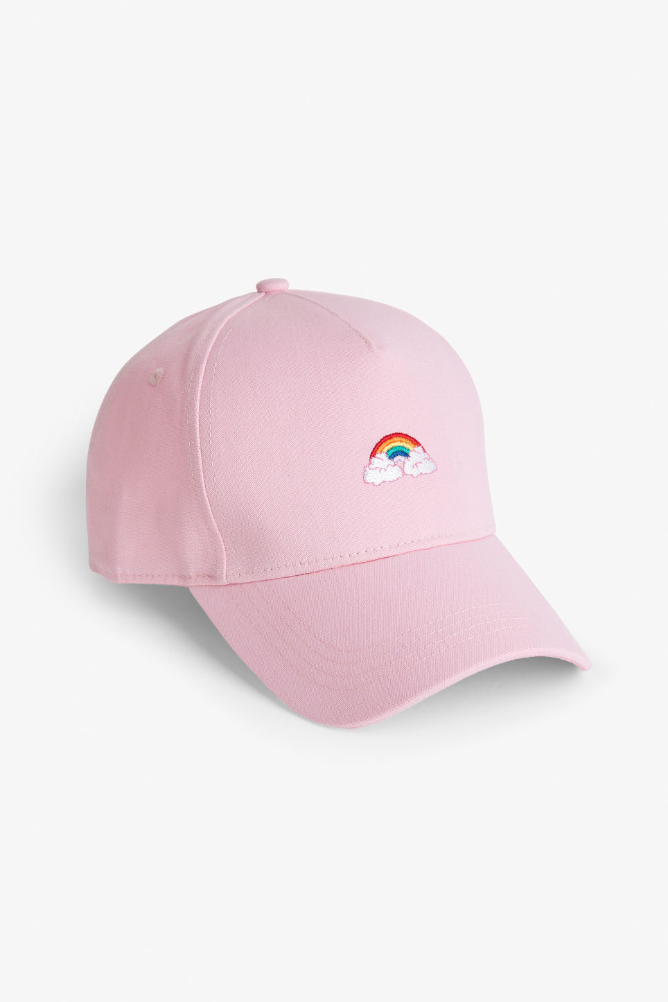 Front image of Monki baseball hat in pink