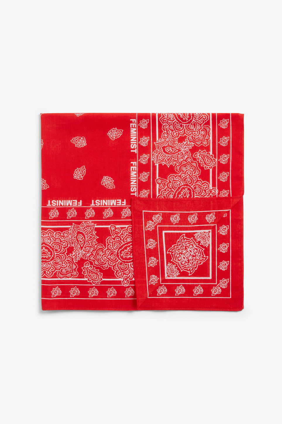 Front image of Monki statement scarf in red