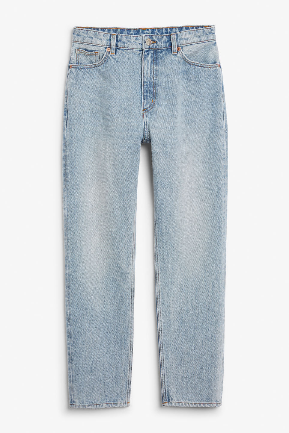 Front image of Monki moluna jeans in blue