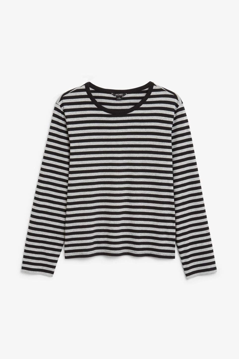Front image of Monki soft long-sleeved top in grey