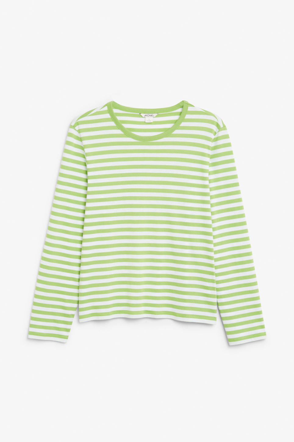 Front image of Monki soft long-sleeved top in green