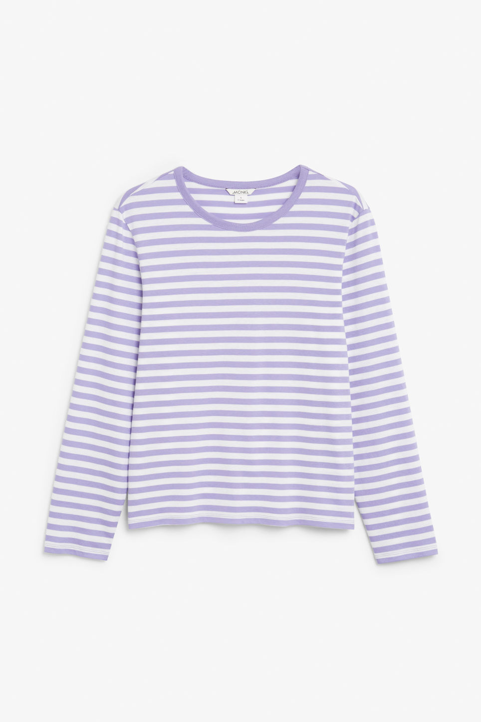Front image of Monki soft long-sleeved top in purple