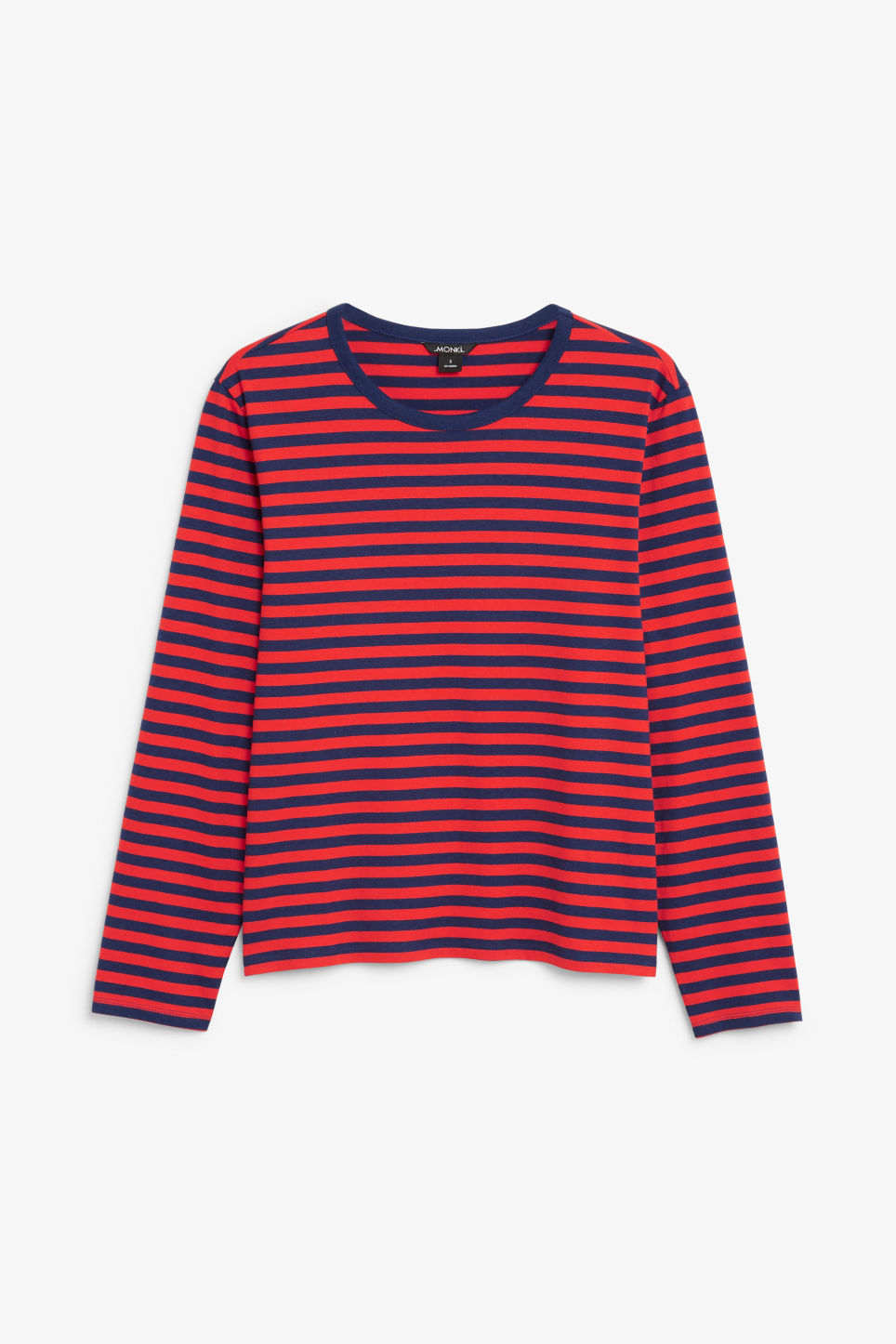 Front image of Monki soft long-sleeved top in red