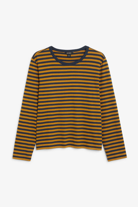Front image of Monki soft long-sleeved top in yellow