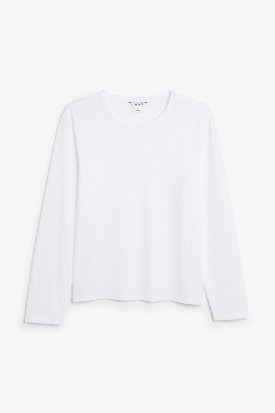 Front image of Monki soft long-sleeved top in white