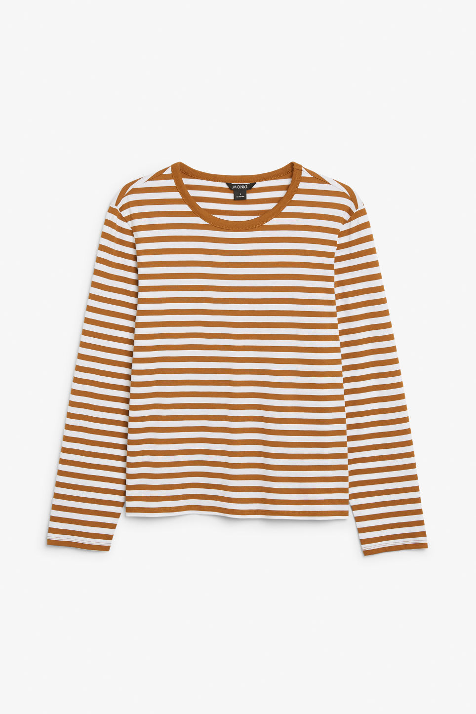 Front image of Monki soft long-sleeved top in orange