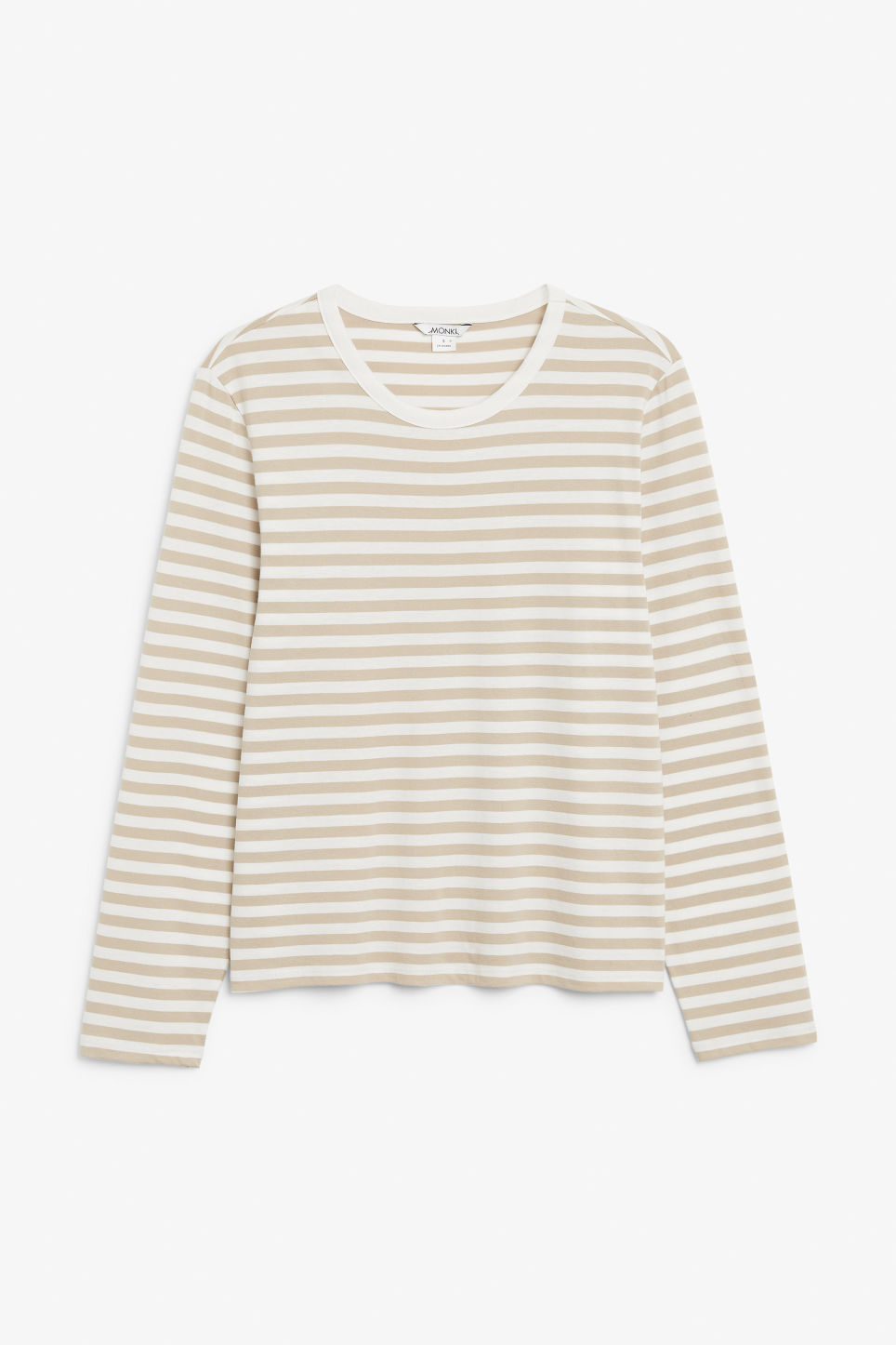 Front image of Monki soft long-sleeved top in beige