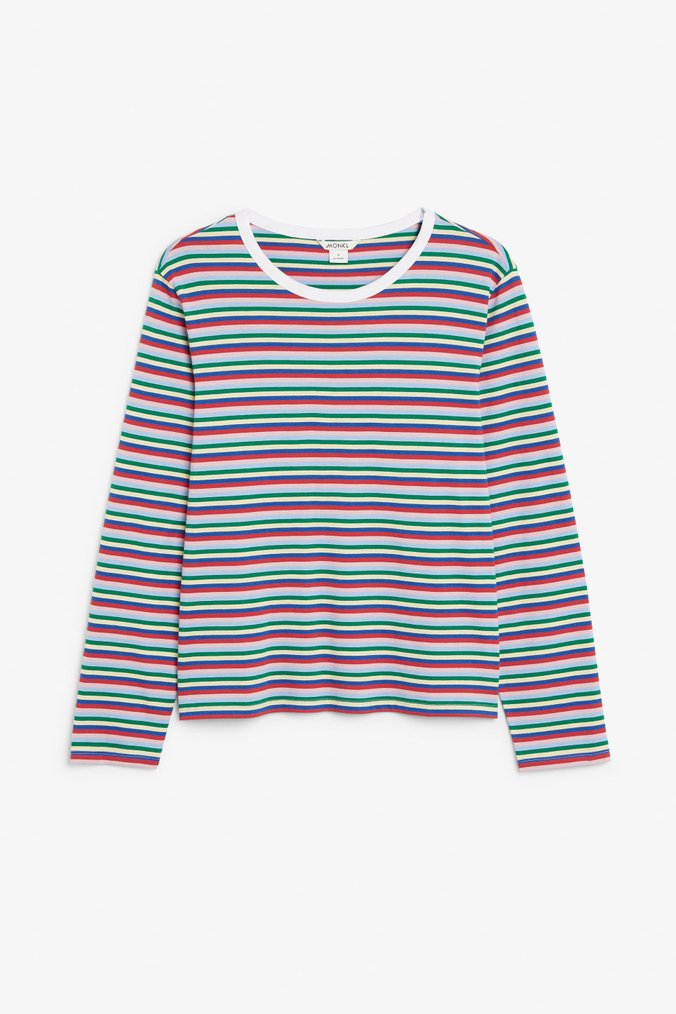 Front image of Monki soft long-sleeved top in pink