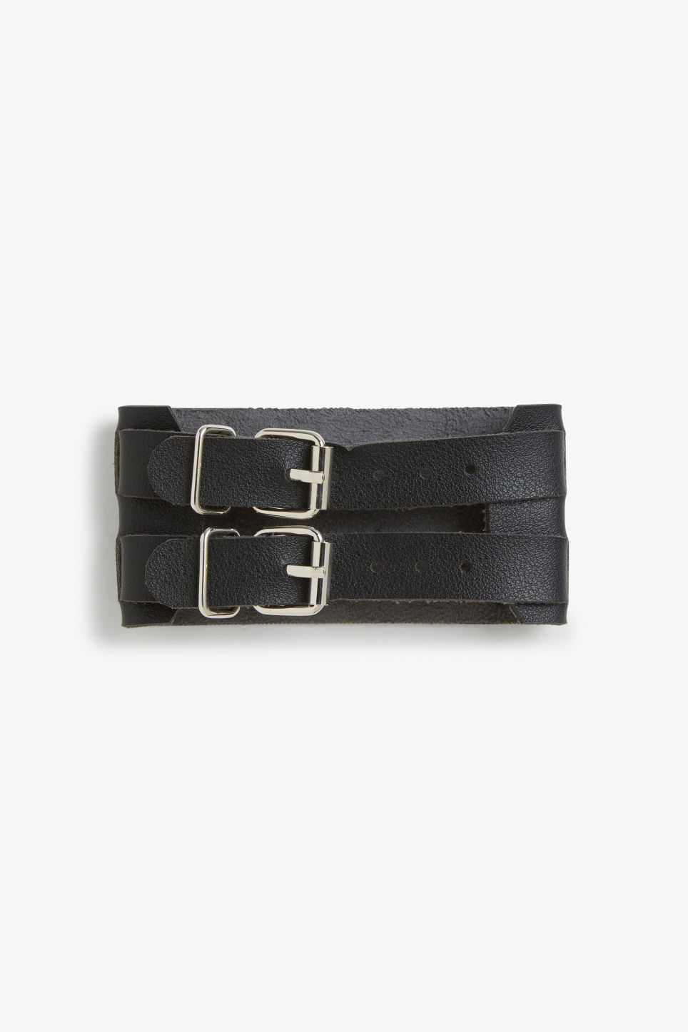Front image of Monki strappy cuff in black