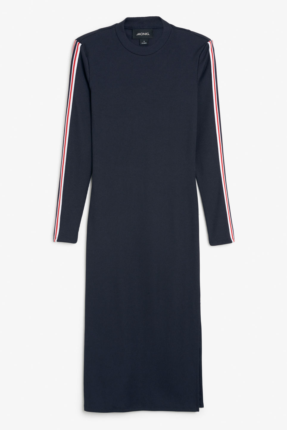 Front image of Monki long dress with cutout back detail in blue