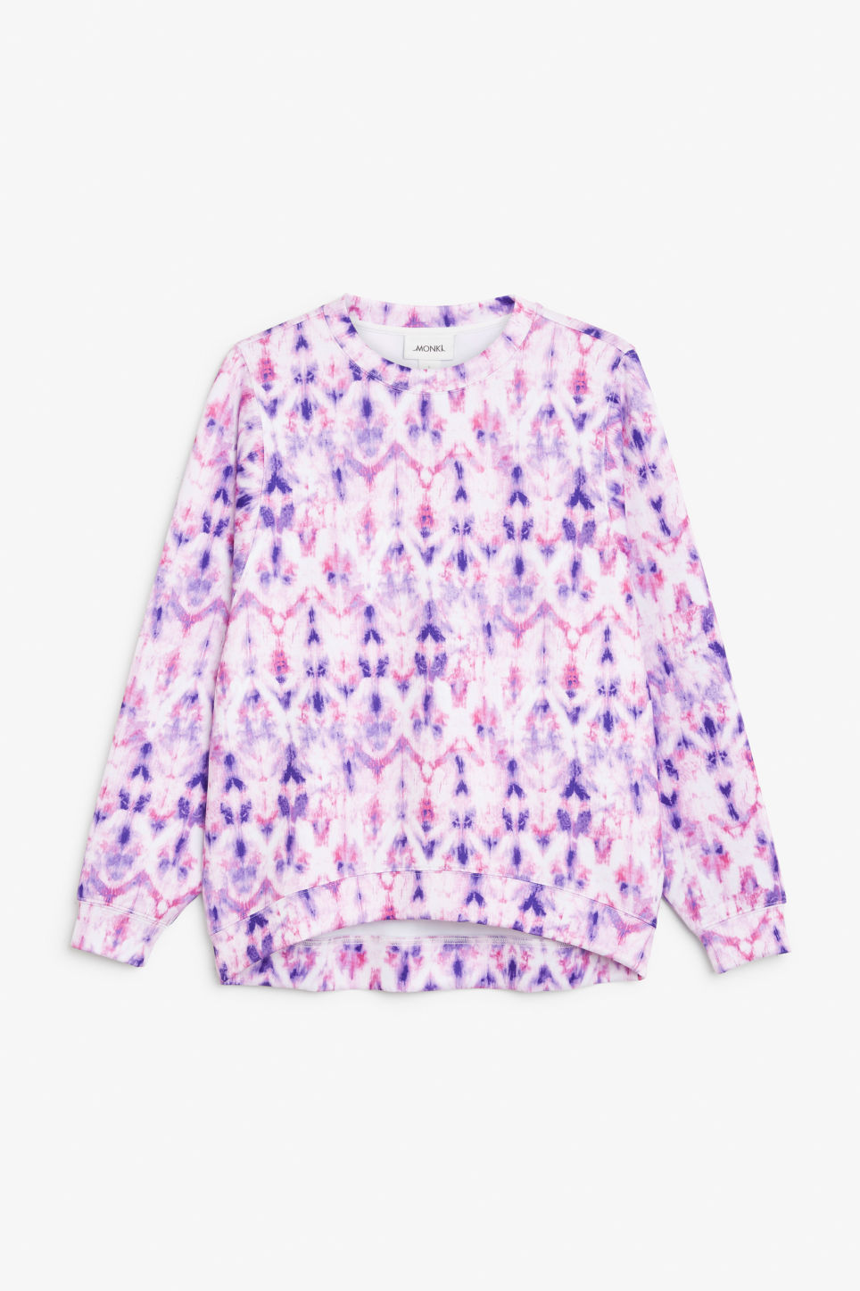 Front image of Monki oversized scuba sweat top in purple