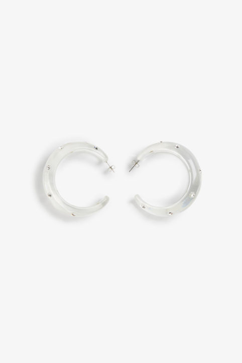 Chunky diamante hoops