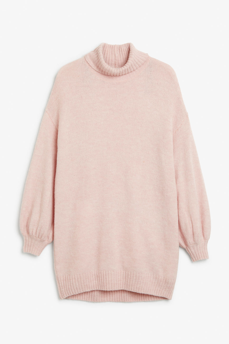 Front image of Monki polo neck knit in pink
