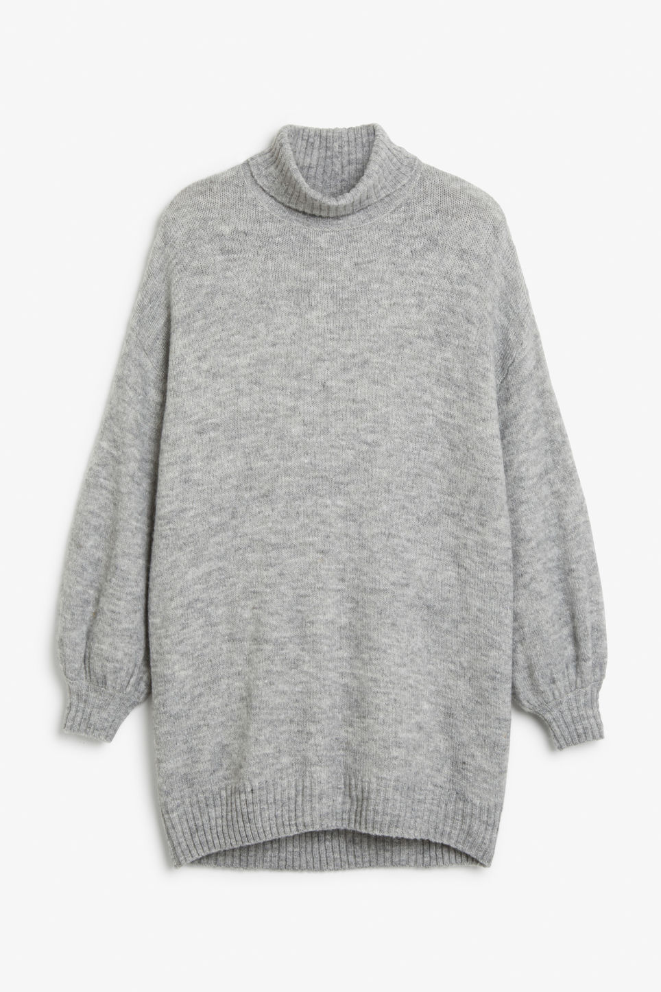 Front image of Monki polo neck knit in grey