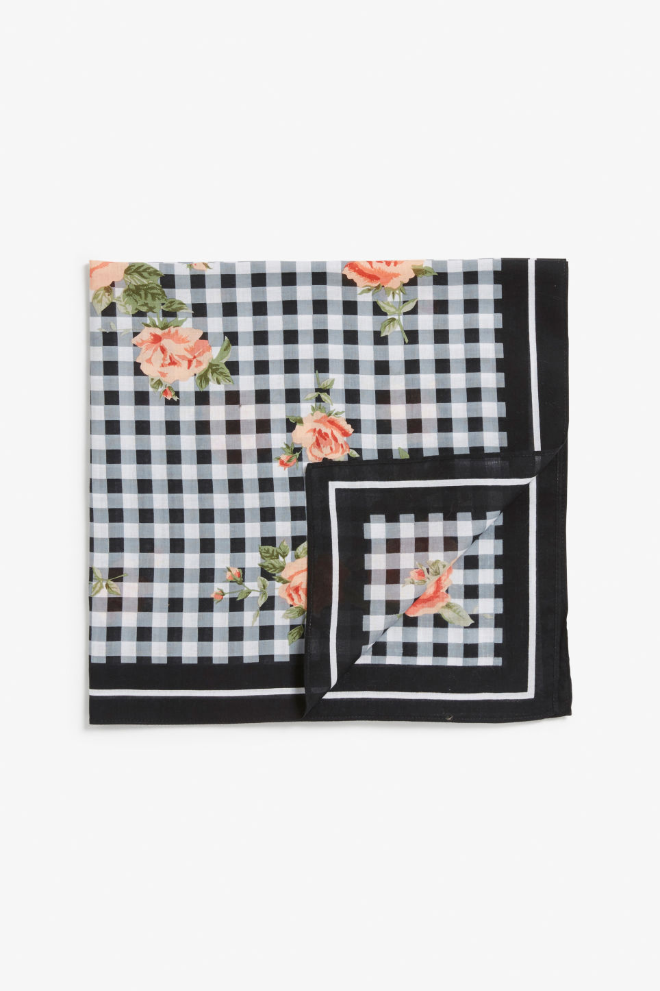 Front image of Monki printed scarf in white