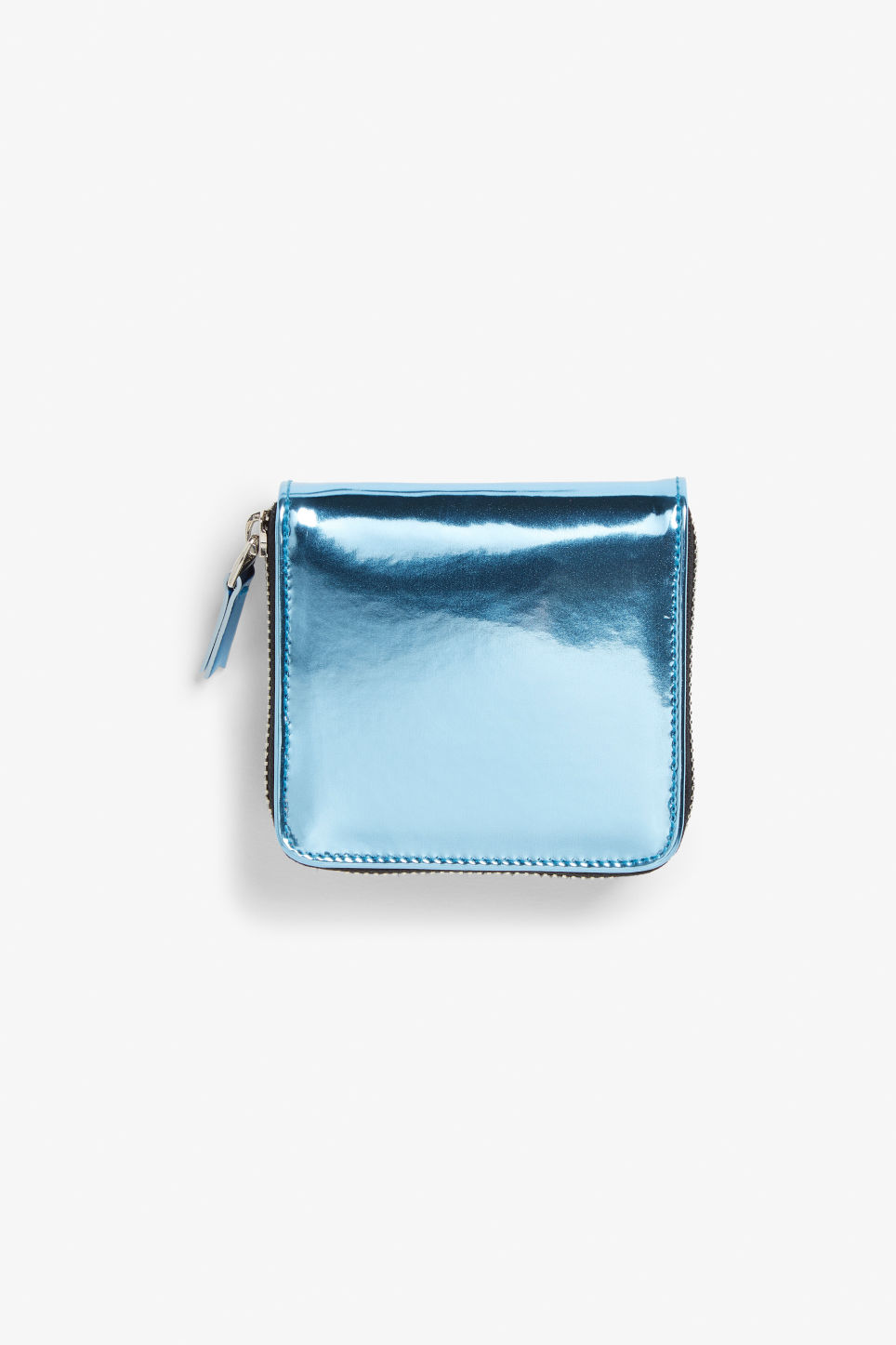 Front image of Monki coin purse wallet in blue