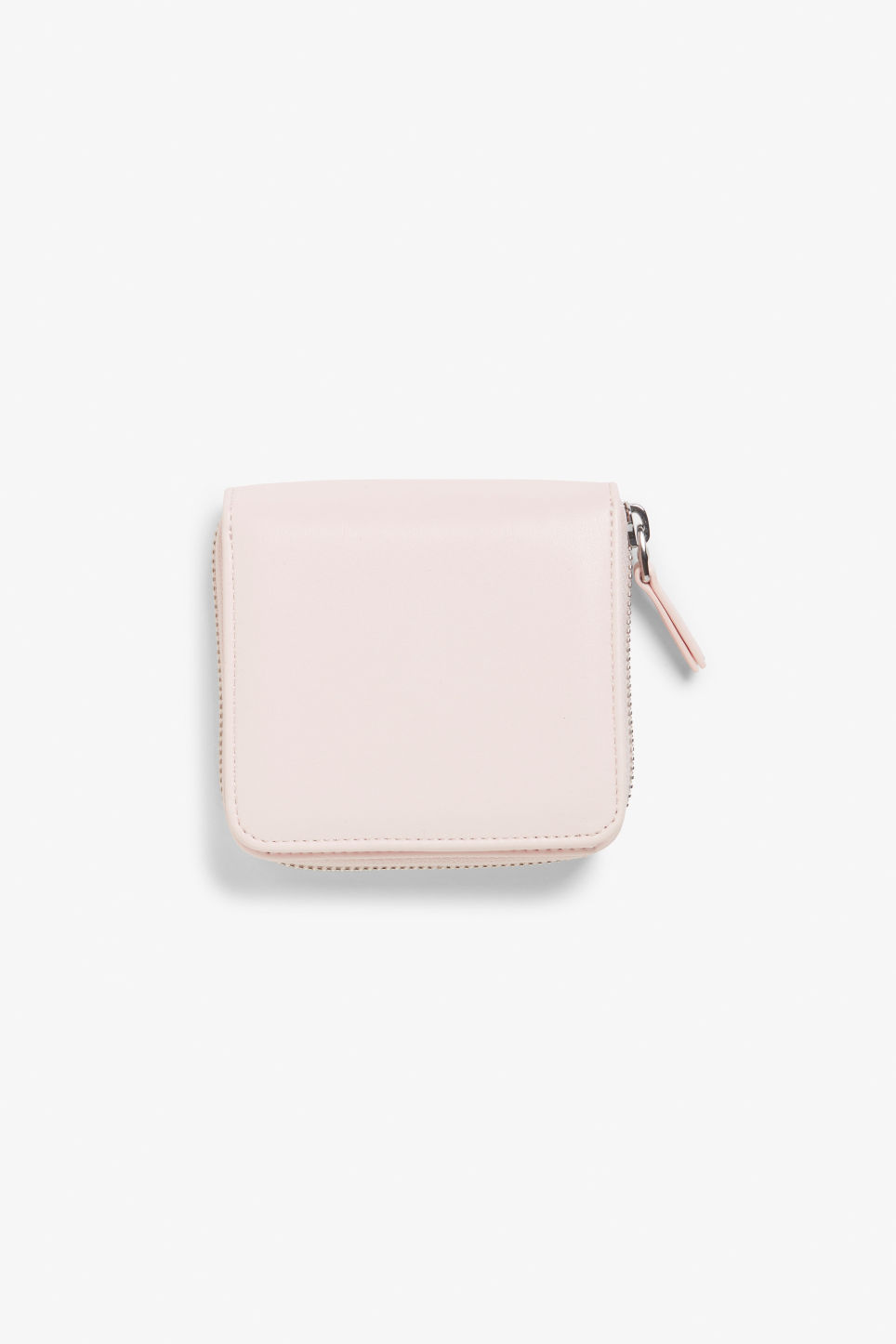 Front image of Monki coin purse wallet in pink