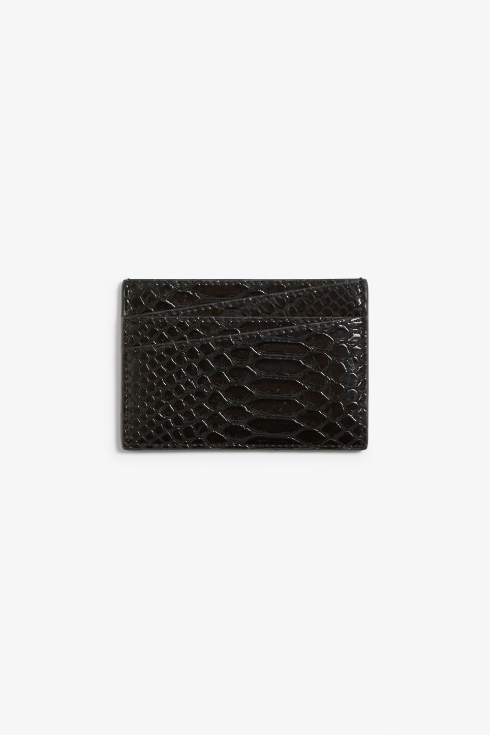 Front image of Monki card case in black