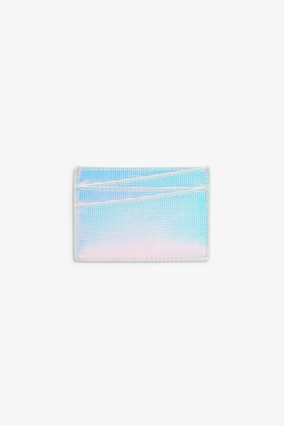 Front image of Monki card case in white