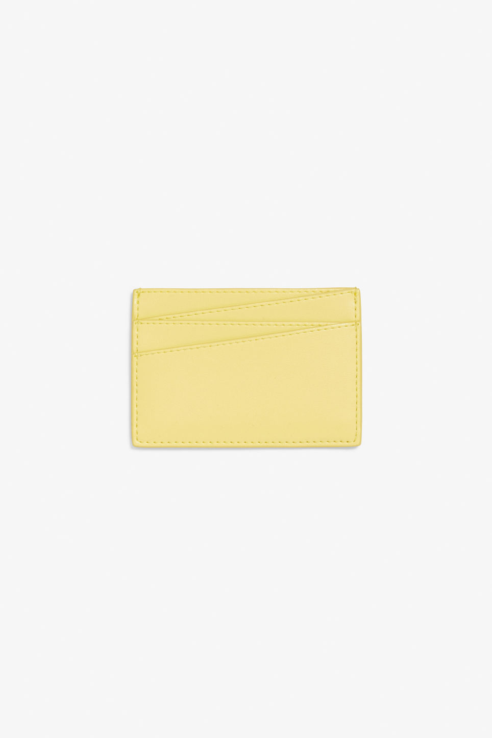Front image of Monki card case in yellow