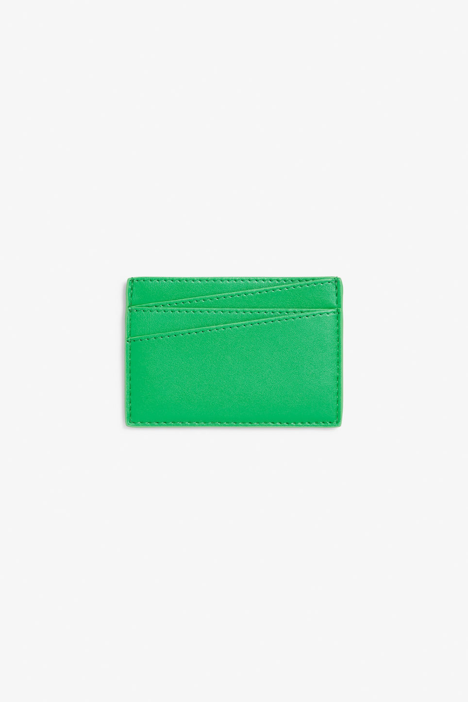 Front image of Monki card case in green