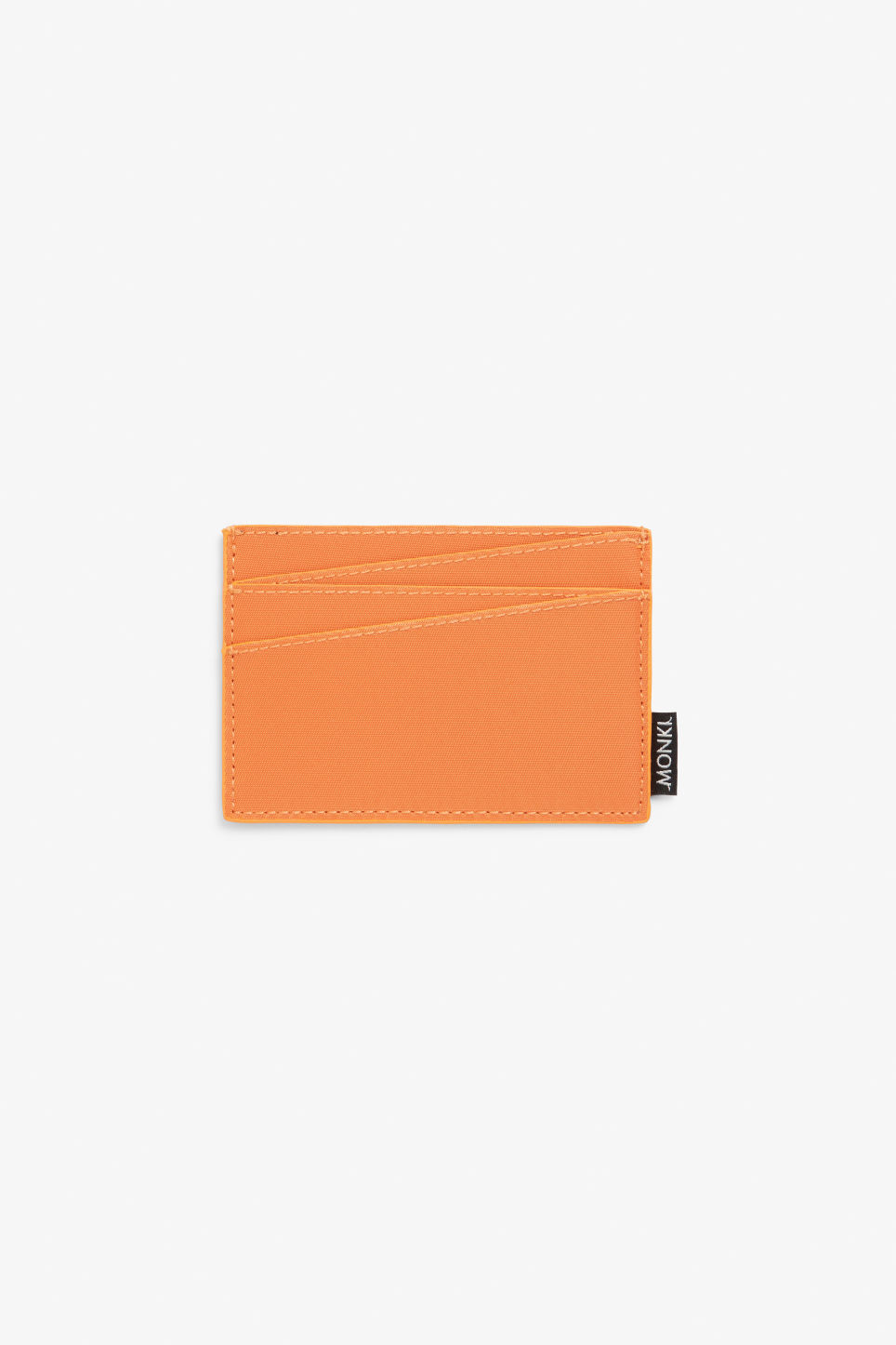 Front image of Monki card case in orange