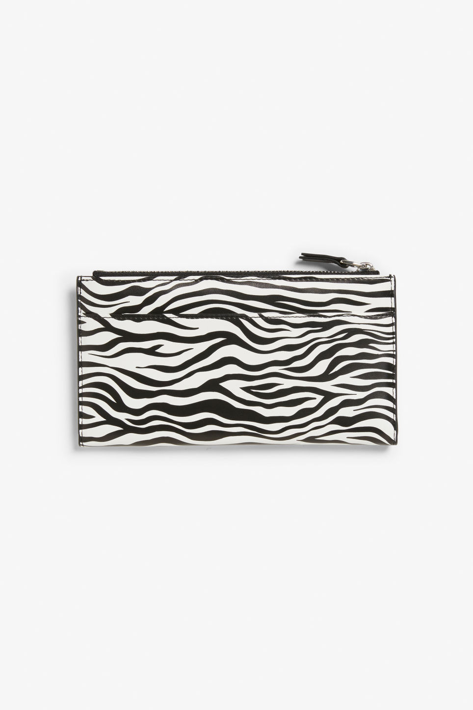 Front image of Monki multi-pocket wallet in white