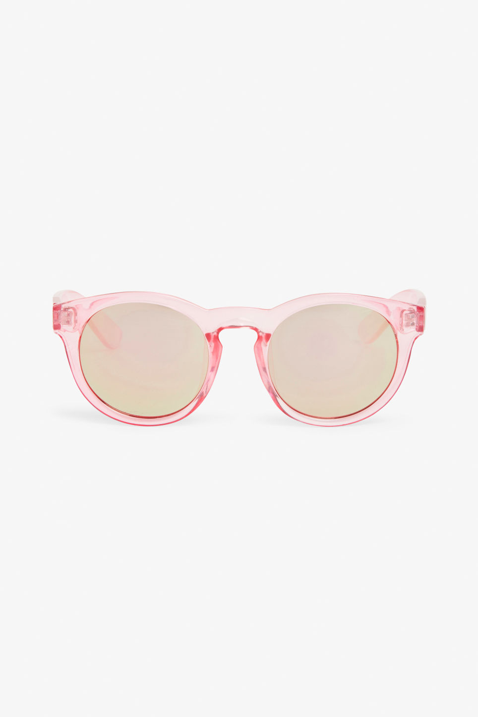 Front image of Monki round lense sunglasses in pink
