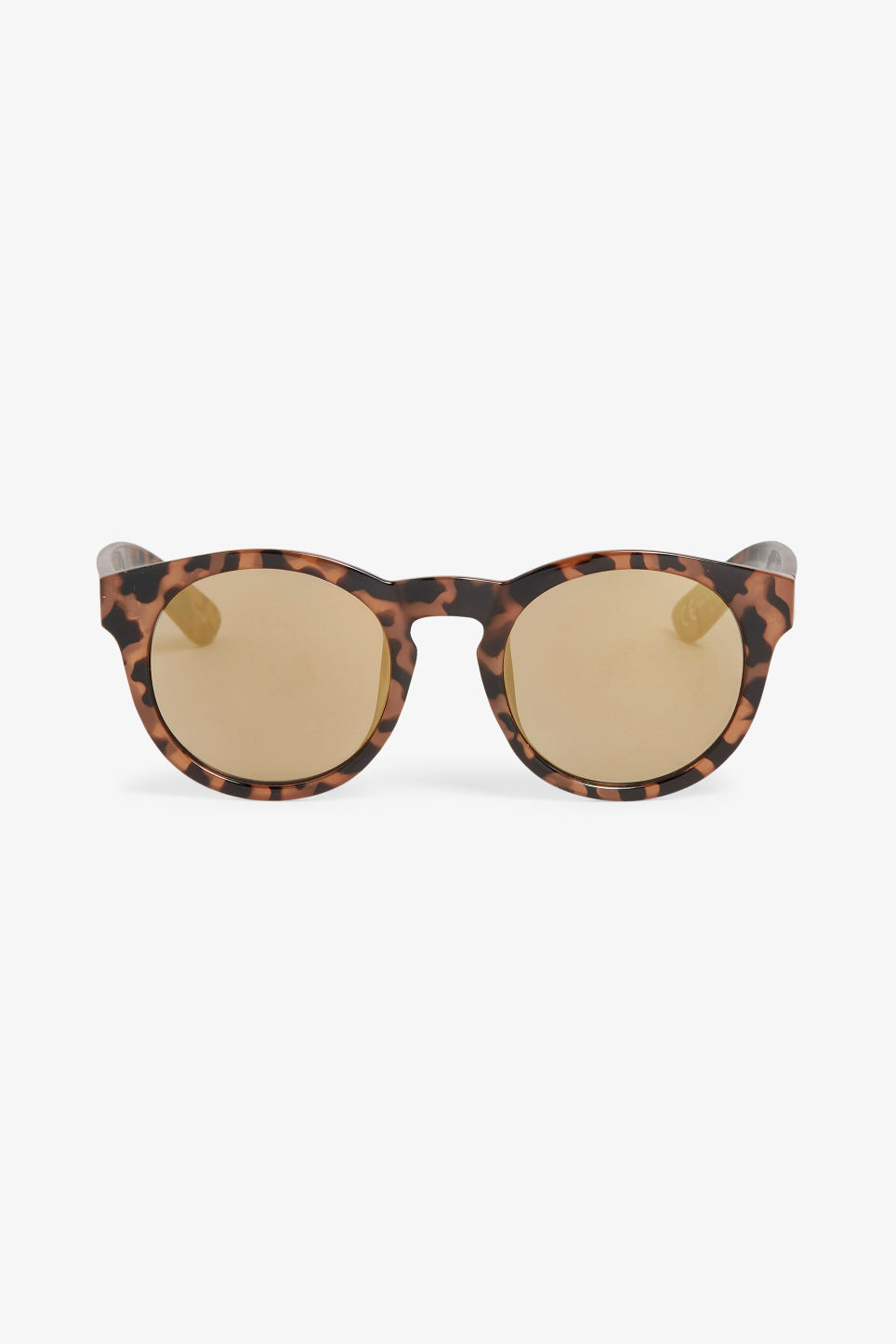 Front image of Monki round lense sunglasses in brown