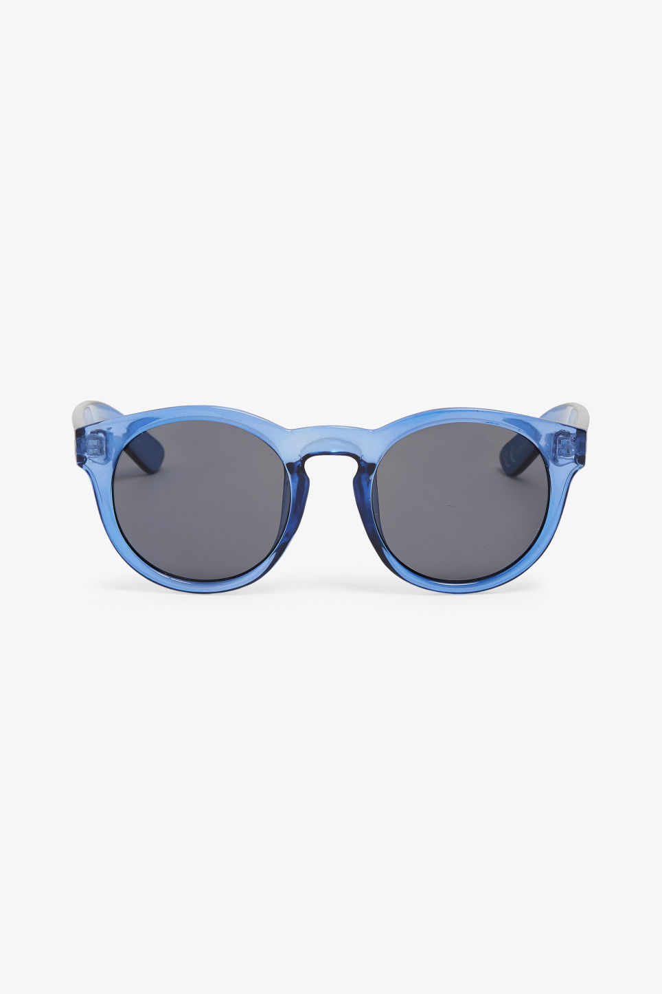 Front image of Monki round lense sunglasses in blue